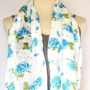 BLUE Roses Floral Scarf #hundredsofscarves